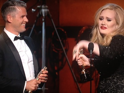 Adele wins best song for Skyfall at 2013 Oscars
