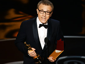 Christoph Waltz best supporting actor winner 2013 Oscars