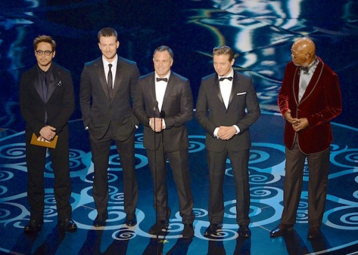 The Avengers Cast 2013 Oscars