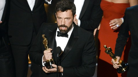 Ben Affleck accepting Oscar for Best Picture Argo