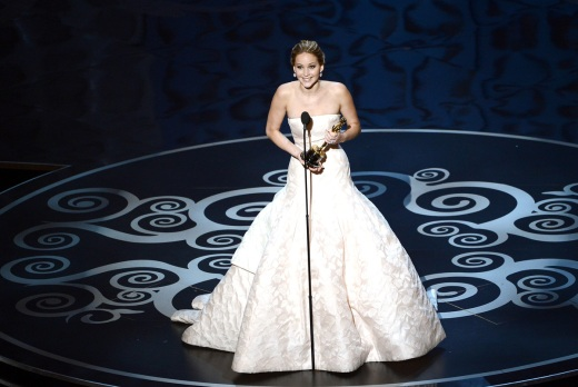 Best Actress Winner Jennifer Lawrence 2013 Oscars