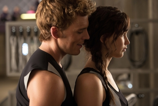 Sam Claflin Jennifer Lawrence Catching Fire