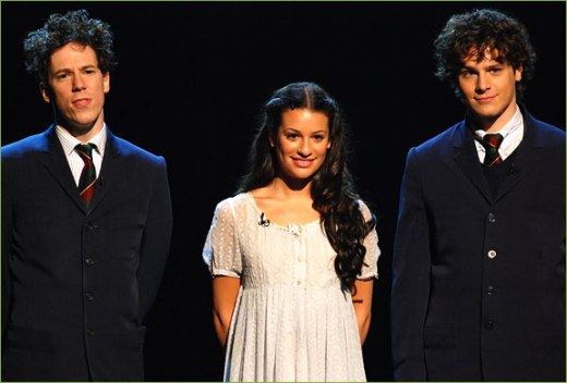 Lea Michele, Jonathan Groff and John Gallagher Jr. Spring Awakening